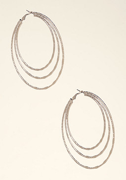 bebe Triple Hoop Earrings
