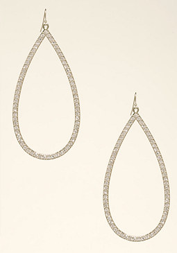 Crystal Teardrop Earrings at bebe
