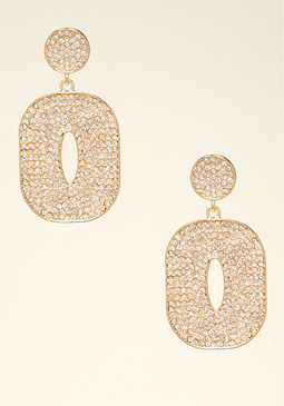 bebe Open Circle Drop Earrings