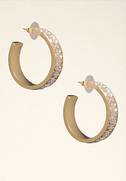 bebe Crystal Hoop Earrings