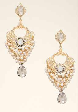 bebe Pearl Statement Earrings