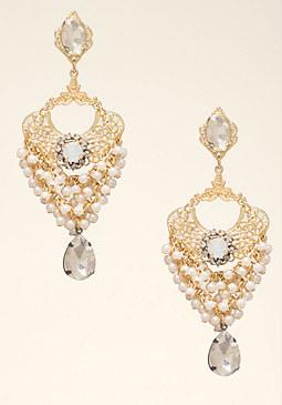 bebe Pearl Statement Earrings
