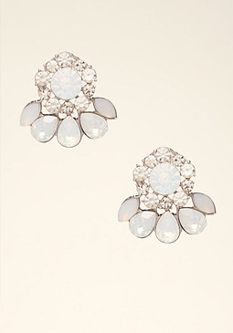 bebe Opal Cluster Stud Earrings