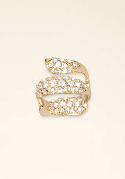 bebe Crystal Wrap Ring