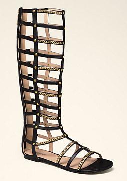 bebe Edyn Flat Gladiator Sandals