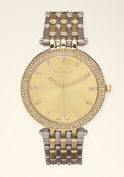bebe Small Link Watch