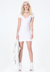 bebe Textured Bodycon Dress