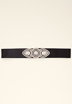 bebe Jeweled Tie Belt