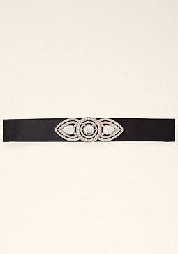 bebe Jeweled Tie Belt