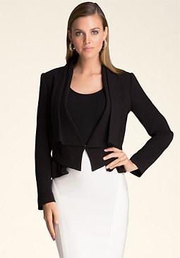 bebe Fold Collar Jacket