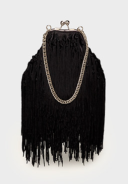bebe Luciana Fringe Evening Bag