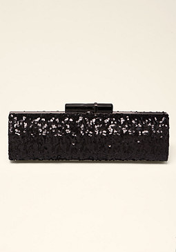 bebe Camila Sequin Clutch