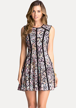 bebe Print Crepe Dress