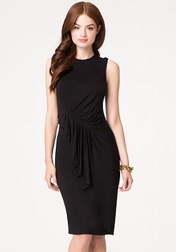 bebe Draped Jersey Midi Dress