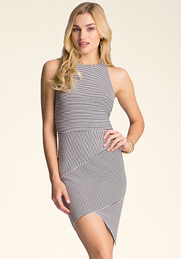 bebe Amelia Striped Dress