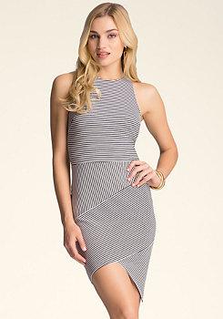bebe Amelia Striped Dress