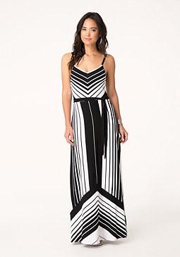 bebe Variegated Maxi Dress