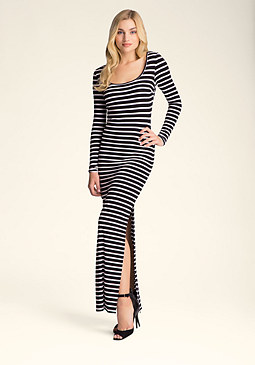 bebe Striped Maxi Dress