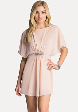 bebe Cape Sleeve Dress