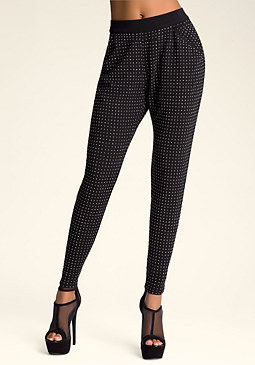 bebe Studded Slouch Leggings