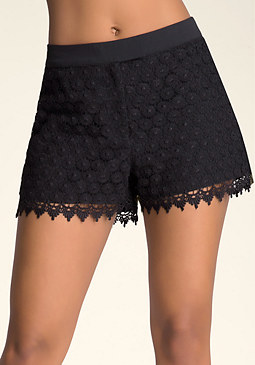 bebe Scallop Edge Shorts