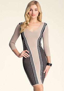 bebe Jacquard Sweater Dress