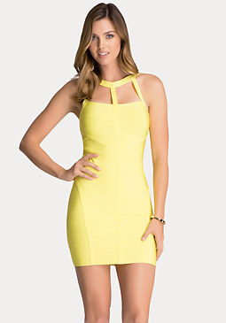 bebe Cage Yoke Bandage Dress