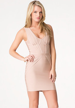 bebe Sunburst Bandage Dress