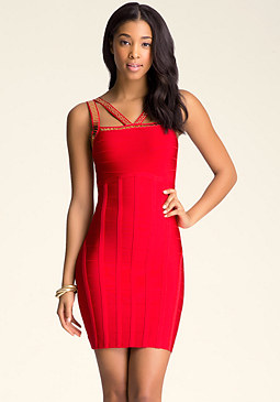 bebe Piper Bandage Dress