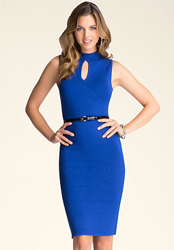 bebe Keyhole Midi Dress