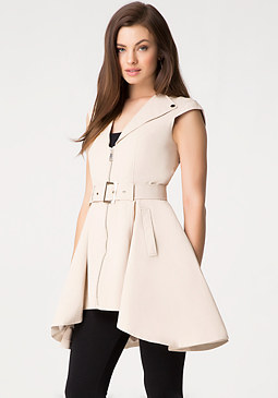 bebe Etta Sleeveless Trench Coat