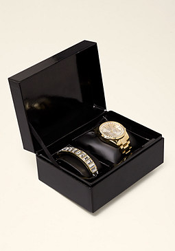 Rhinestone Watch Box Set at bebe