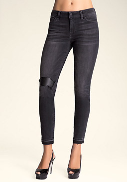 bebe Slim Repair Jeans