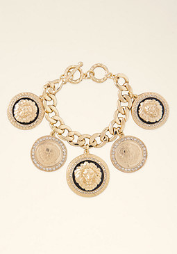 bebe Medallion Charm Bracelet