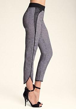 bebe Maxine Mesh Detail Pants