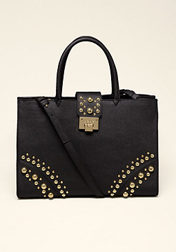 bebe Saffiano Leather Tote