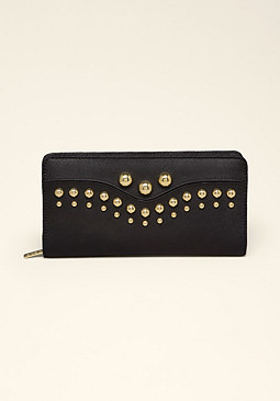 bebe Saffiano Leather Wallet