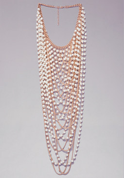 bebe Pearl Statement Necklace