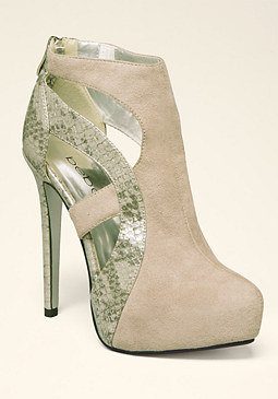 bebe Paris Cutout Booties