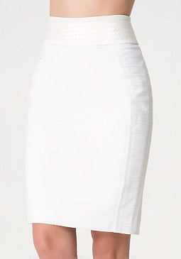 bebe Ribbon Weave Skirt