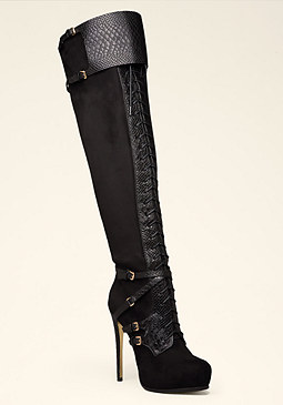 bebe Hayley Lace-Up Boots