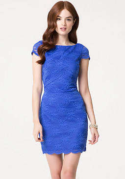 bebe Cutout Lace Dress