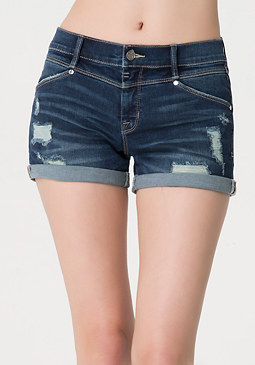 bebe Dark Boyfriend Shorts