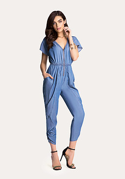 bebe Chambray Jumpsuit