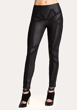bebe Kelly Leather Skinny Pants