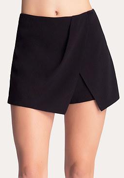 bebe Asymmetric Overlay Shorts