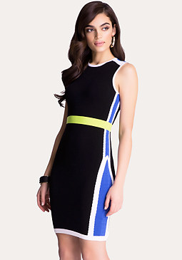 bebe Kelly Colorblock Dress