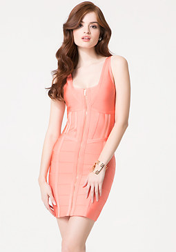 bebe Claire Zip Bandage Dress
