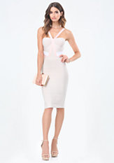 bebe Colorblock Bandage Dress