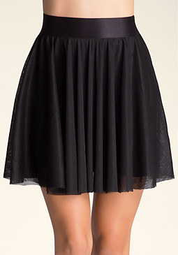 bebe Double Layer Tulle Skirt